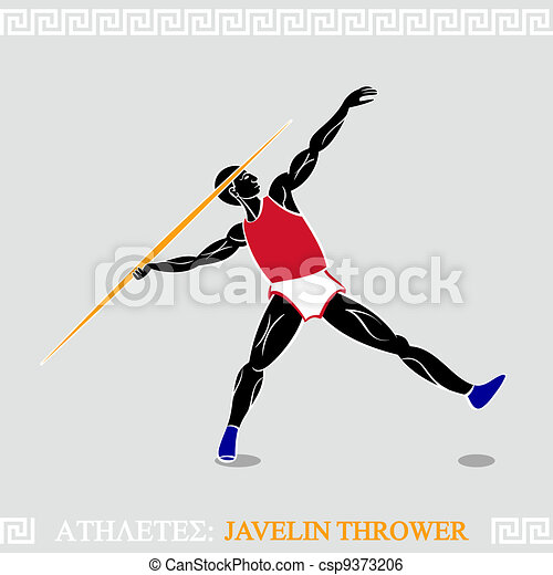 Athlete Javelin thrower - csp9373206