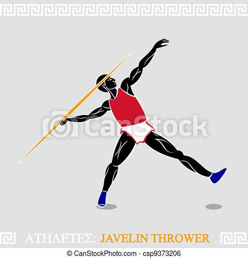 Athlete Javelin thrower - csp9373206