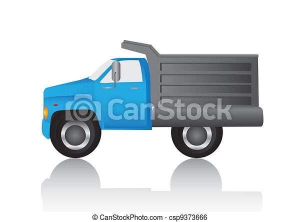 blue dump truck - csp9373666