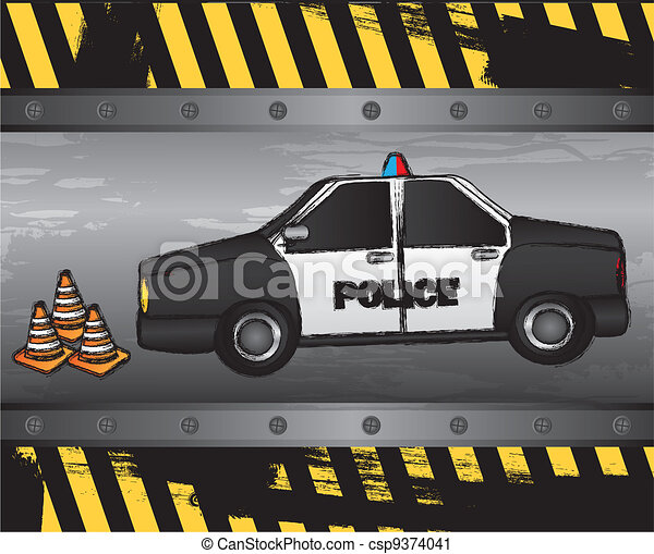 police car - csp9374041