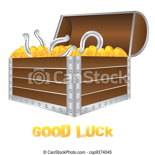 Chest of good luck - csp9374045
