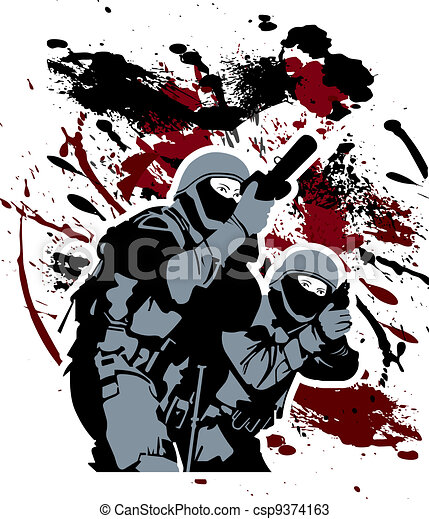 Elite soldiers - csp9374163