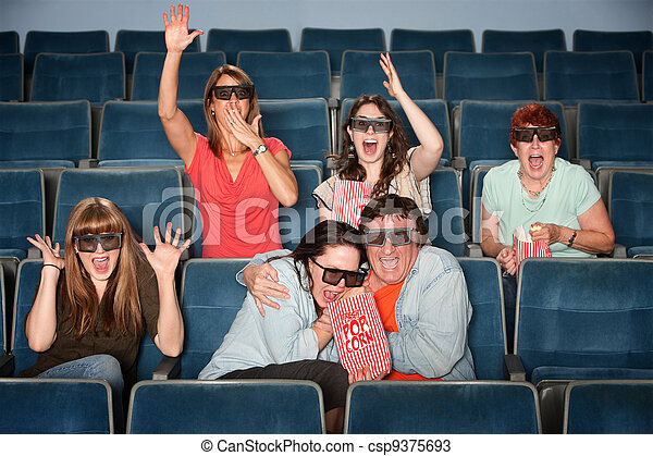 Emotional Theater Audience - csp9375693