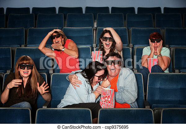 People Screaming In Theater - csp9375695