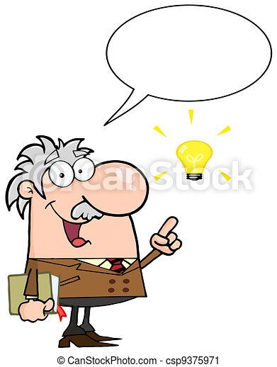Professor Talking About A Idea - csp9375971