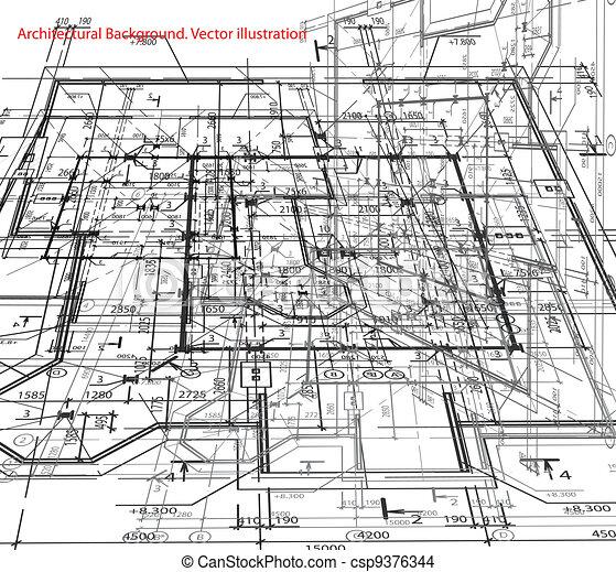 Blueprint Vector Drawings Vector Illustration