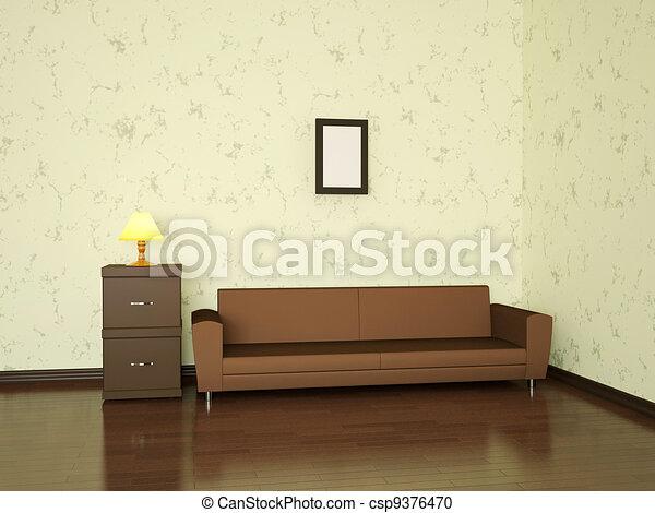 Minimalist interior  - csp9376470