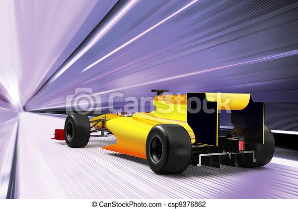 sport car on high speed road - csp9376862