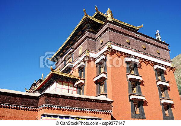 Tibetan lamasery - csp9377147