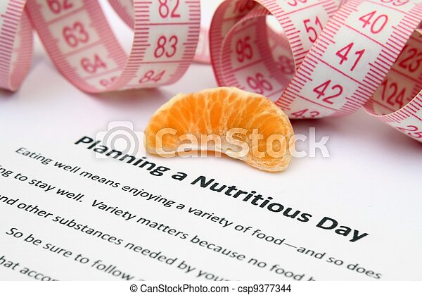 Planning a nutritious day - csp9377344