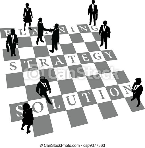 Planning Strategy Solution human chess people - csp9377563
