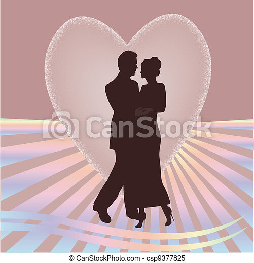 young couple heart - csp9377825