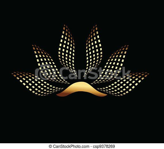 Gold Lotus company logo - csp9378269