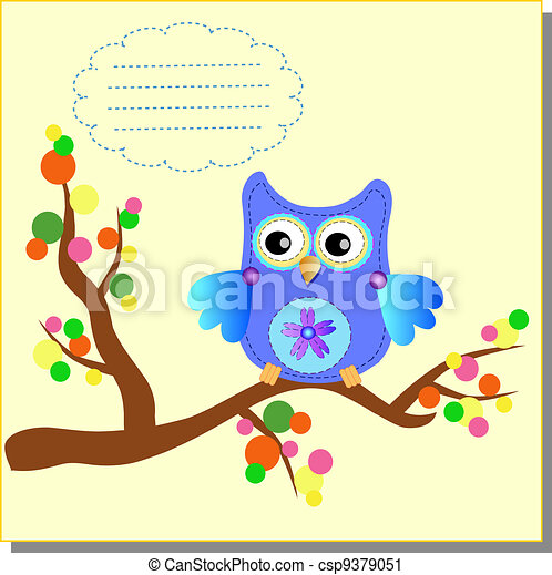 Cartoon Owl (vector version) - csp9379051