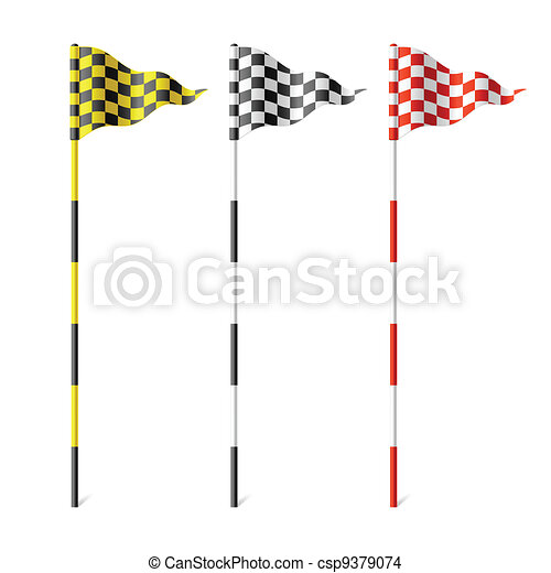 Checkered flags - csp9379074
