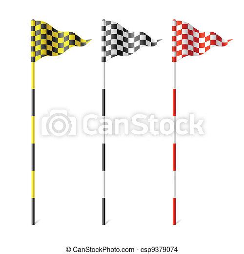 Checkered flags - csp9379074