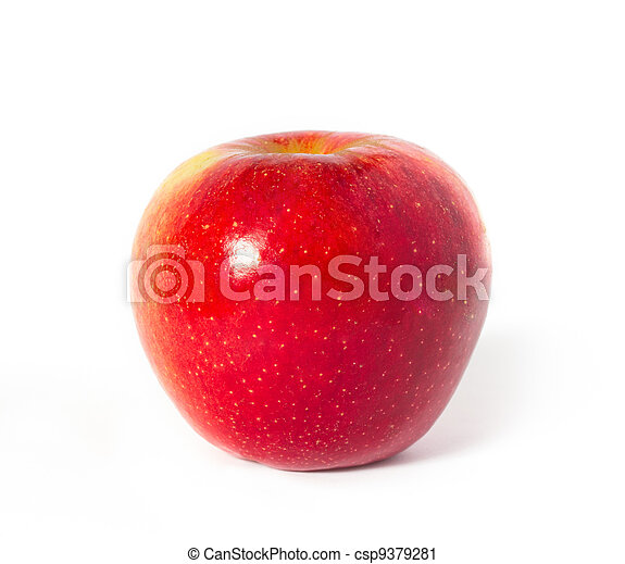 red with yellow apple on white - csp9379281