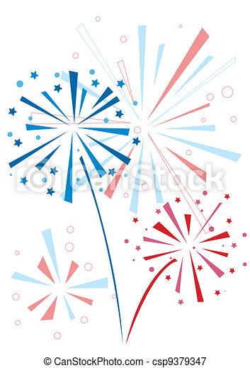 Vector firework - csp9379347