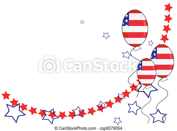 American patriotic background for Independence Day - csp9379354