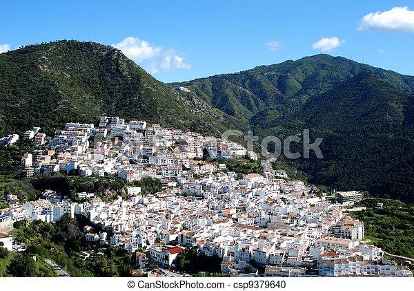 Whitewashed village, Ojen, Spain. - csp9379640