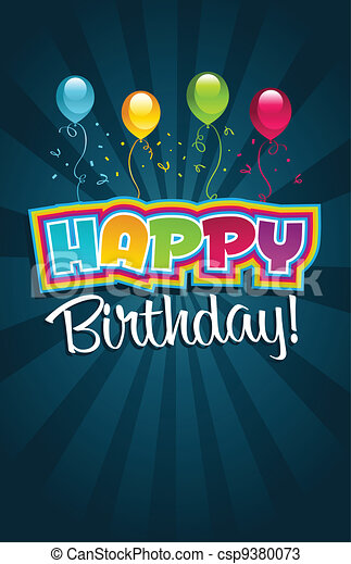 Happy birthday greeting card - csp9380073