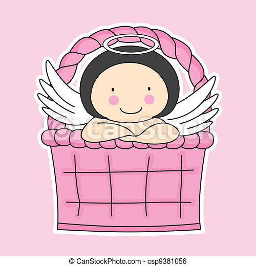 Fairy in a basket  - csp9381056