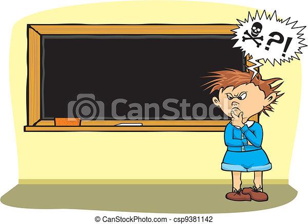 fear of school - boy with a problem - csp9381142