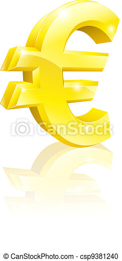 Euro currency sign - csp9381240