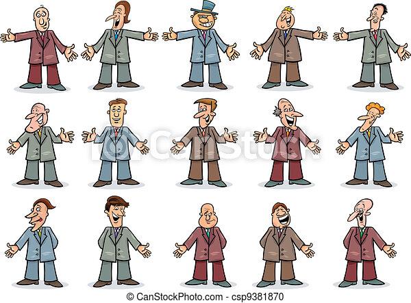 happy businessmen collection - csp9381870