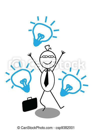 Happy Businessman Idea - csp9382001