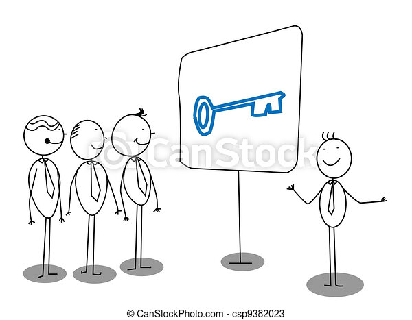 Businessman Presentation  - csp9382023
