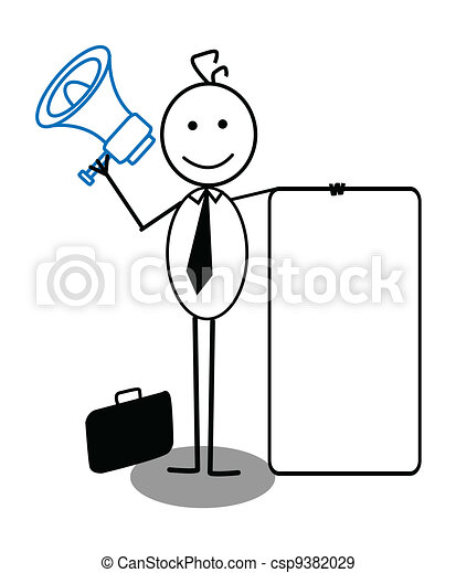 businessman and megaphone - csp9382029