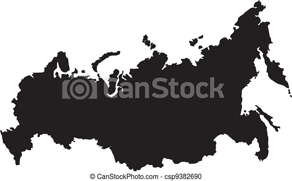 Vector illustration of maps of  Russia - csp9382690