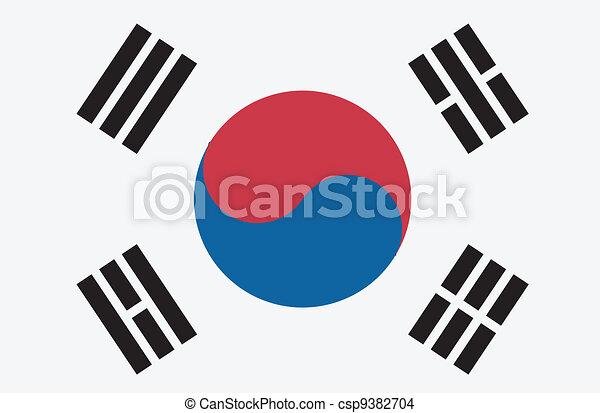 Vector illustration of the flag of Republic of Korea - csp9382704