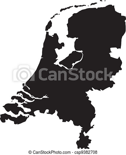 Vector illustration of maps of Netherlands - csp9382708