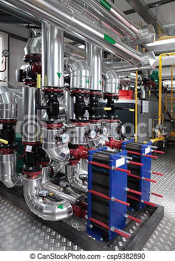 modern gas boiler room - csp9382890
