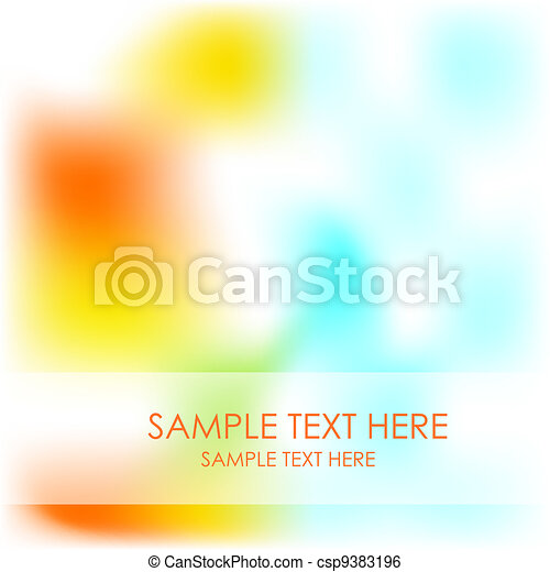 Blurred shiny nature vector background - csp9383196