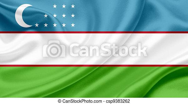 Uzbekistan waving flag - csp9383262