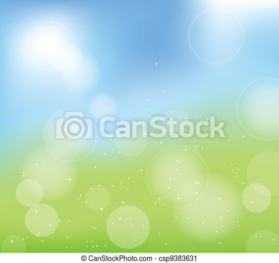 summer abstract blur background - csp9383631