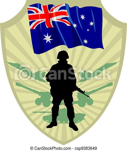 Army of Australia - csp9383649