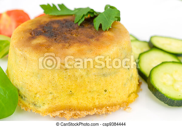 pie with courgettes stuffed with ri - csp9384444
