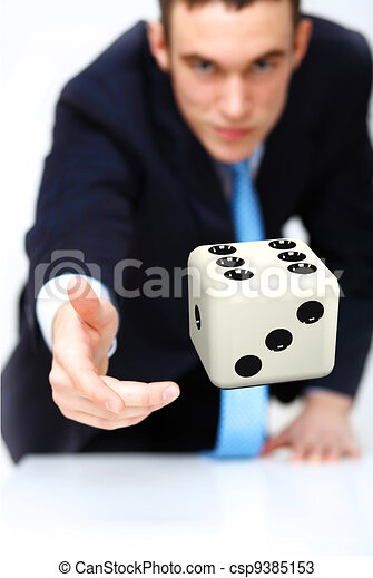 Dice as symbol of risk and luck - csp9385153