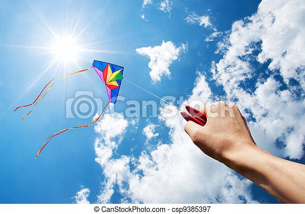 flying kite - csp9385397