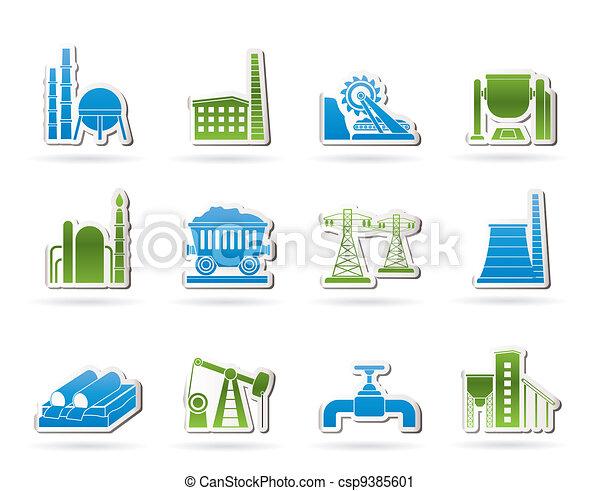 Heavy industry icons - csp9385601
