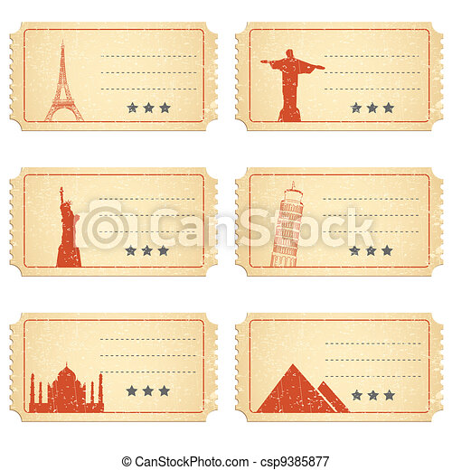 Ticket for Different Places - csp9385877