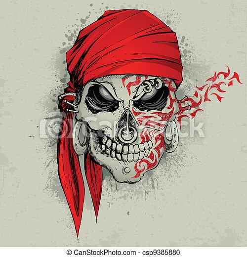 Skull Background - csp9385880