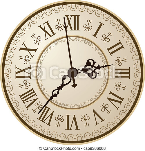 Antique clock - csp9386088