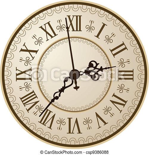 Antique clock - csp9386088