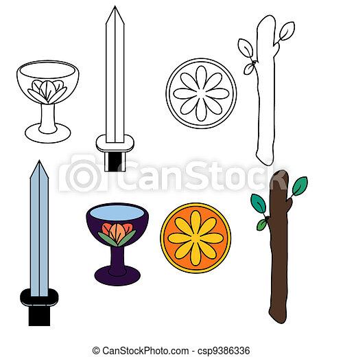 Tarot suit symbols - csp9386336