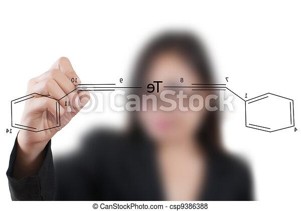 Teacher write scientific formula. - csp9386388